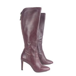 Nine West Tall Leather High Heel Knee Boots 7